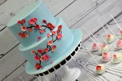 Japanese Blossom Birthday Cake