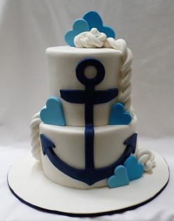 Nautical Wedding Shower Cake