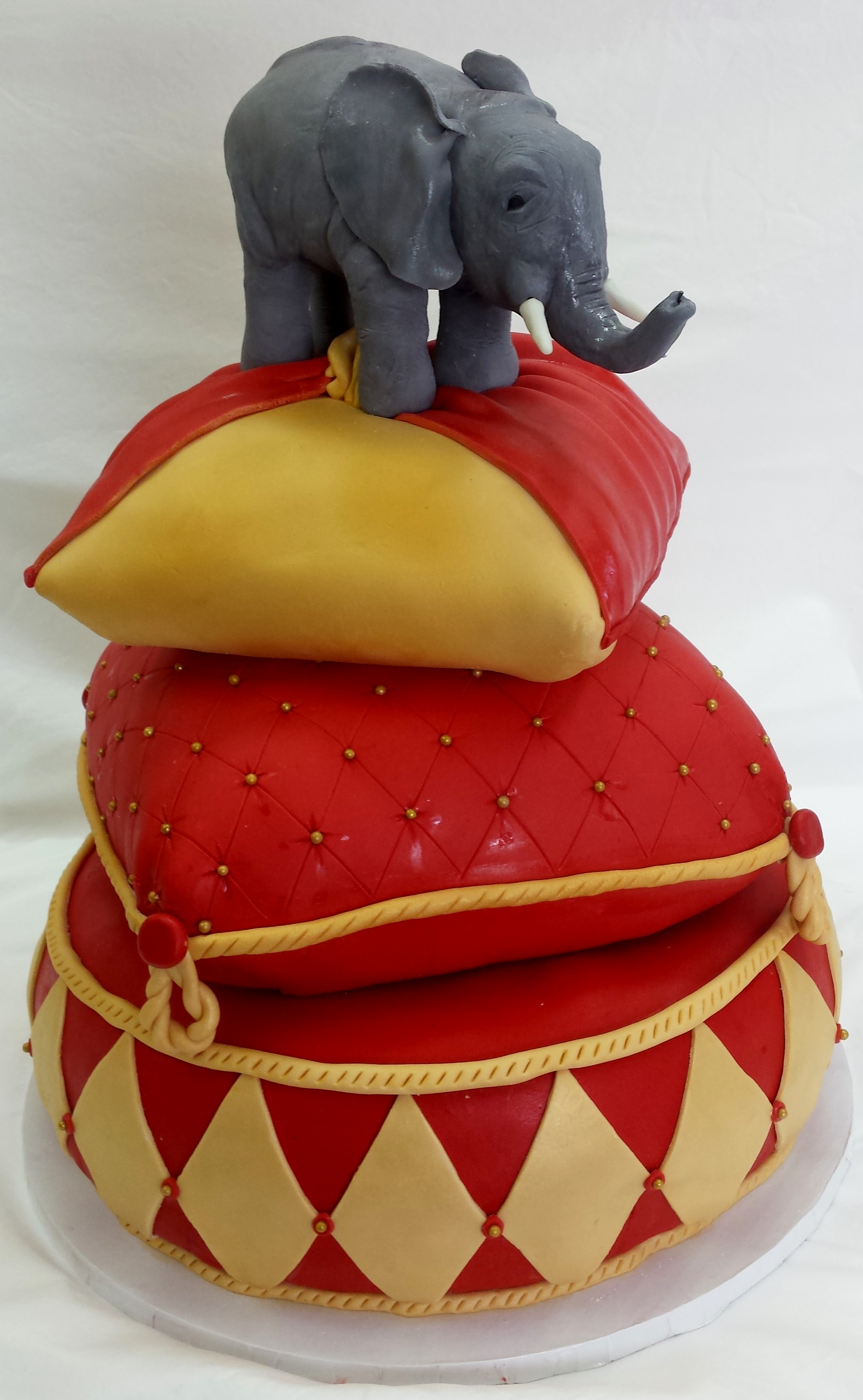 Pillow w/ Elephant Birthday Cake