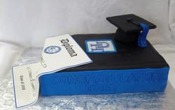 Hampton University Graduation Cake