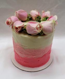 Simple Roses Birthday Cake