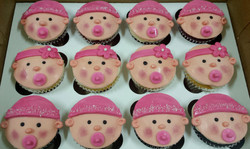 Baby Face Baby Shower Cupcakes