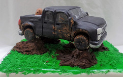 Man's Best Friend and Truck Cake