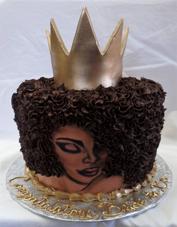African Beauty Bridal Shower Cake