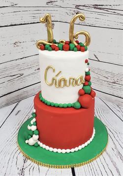 Christmas Birthday Cake