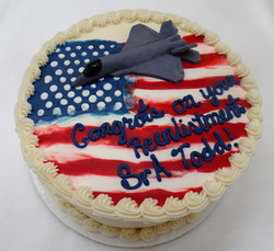 Air Force Re-enlistment Cake