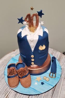 Dashing 40 Birthday Cake