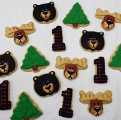 Woodland Birthday Cookies