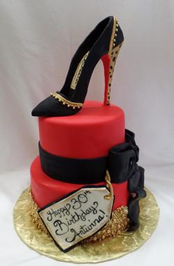 Christian Louboutin Shoe Cake