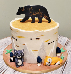 We Can Bearly Wait Baby Shower Cake