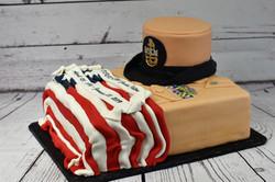 Navy Retirement Cake