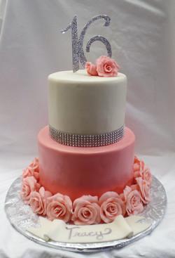 Elegant Rose Birthday Cake