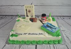 Model Airplane Birthday Cake