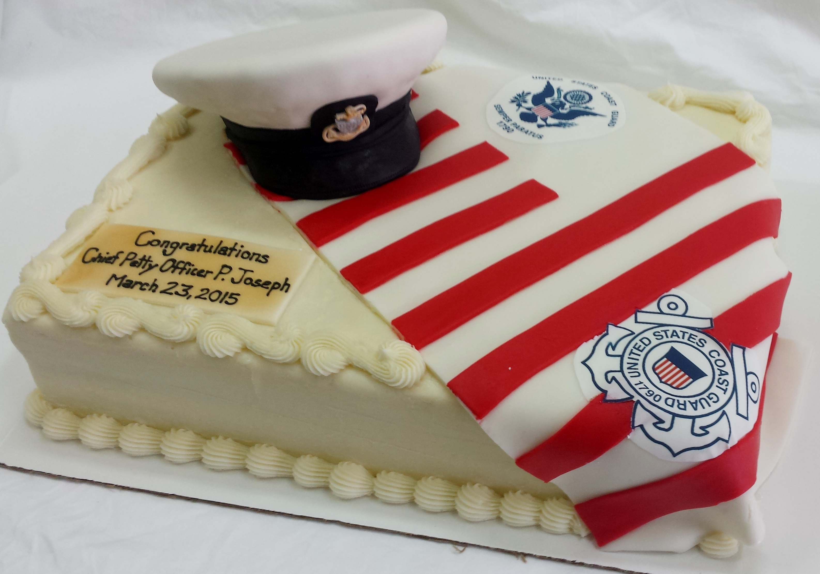 Coast Guard Retirement Cake