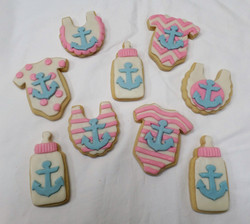 Anchor Baby Shower Cookies