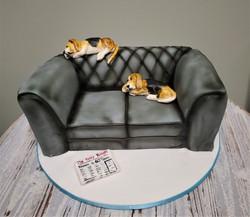 Dogs on Sofa Birthday Cake