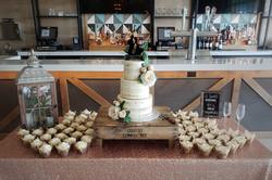 Rustic Charm Wedding Cake & Cupcakes