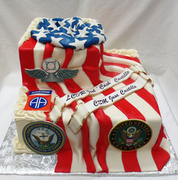 AF and Army Retirement Cake