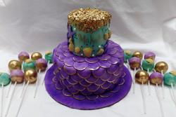 Mermaid Birthday Cake and Cakepops
