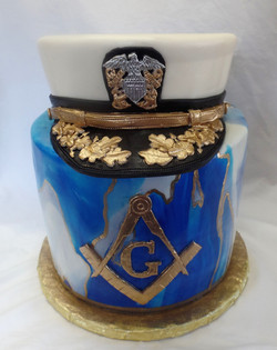 Masonic & Navy Birthday Cake