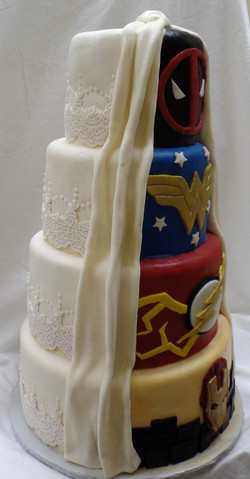 Side View of Wedding Cake