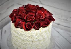 Red Roses Birthday Cake