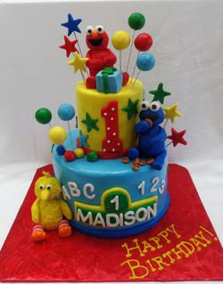 Baby Sesame Street Birthday Cake