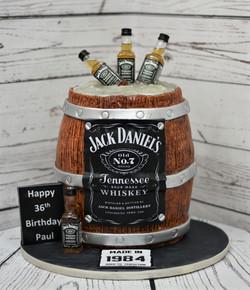 Jack Daniels Barrel Birthday Cake