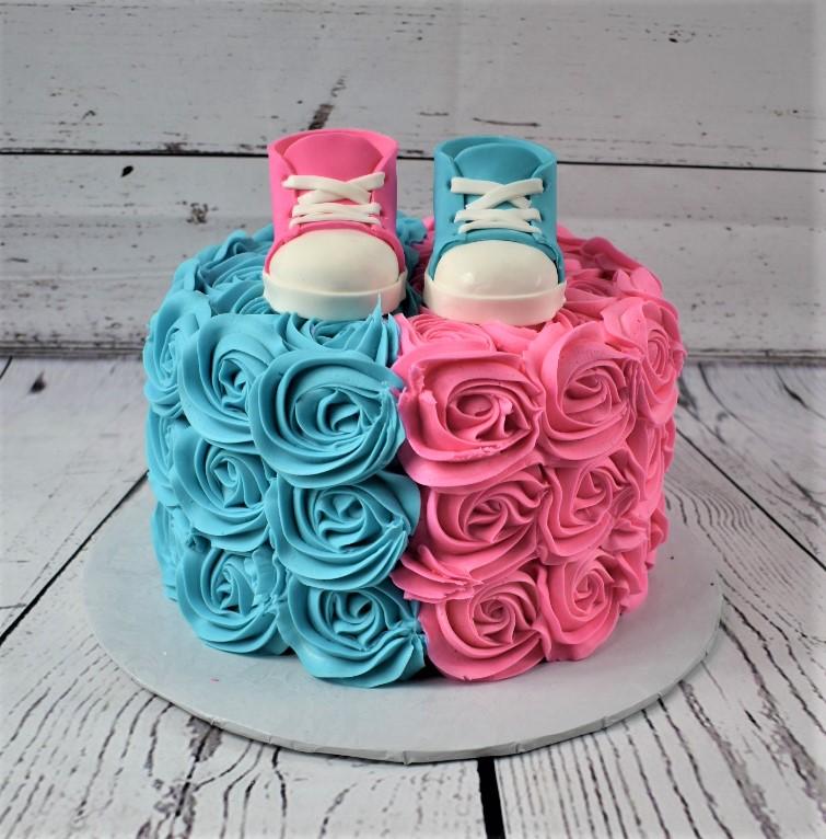 Pink or Blue Gender Reveal Cake