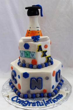 CNU Chemistry Graduation Cake