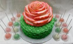 Rose Baby Shower Cake