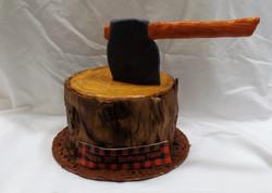 Lumberjack Birthday Cake