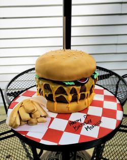 Cheese Burger Birthday Cake