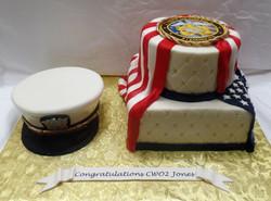 Navy Promotion Cake