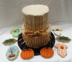 Fall Baby Shower Cake & Cookies