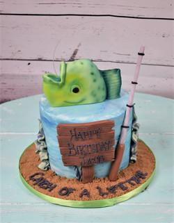 Catch of a Lifetime Birthday Cake