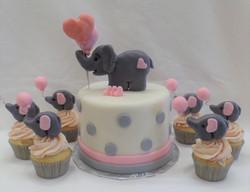 Elephants & Balloons Cake/Cupcakes