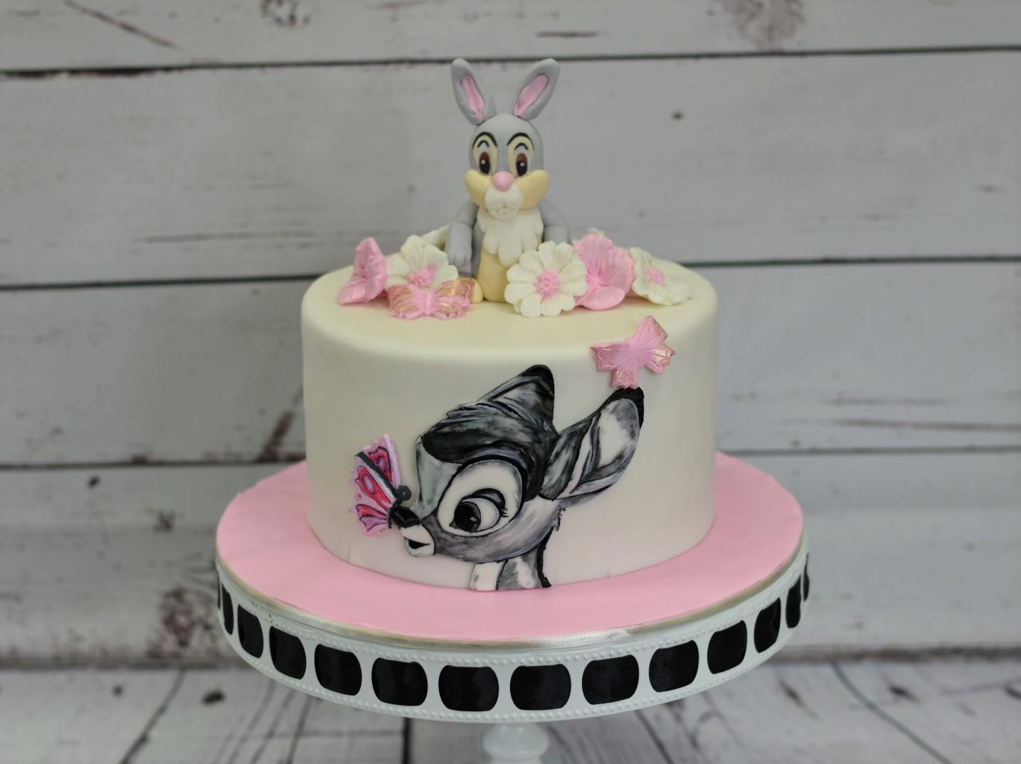 Bambi Baby Shower Cake