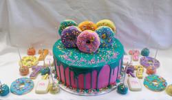 Donuts Birthday Cake