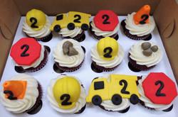 Construction Birthday Cupcakes