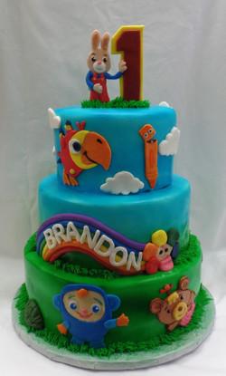Baby's First TV Birthday Cake