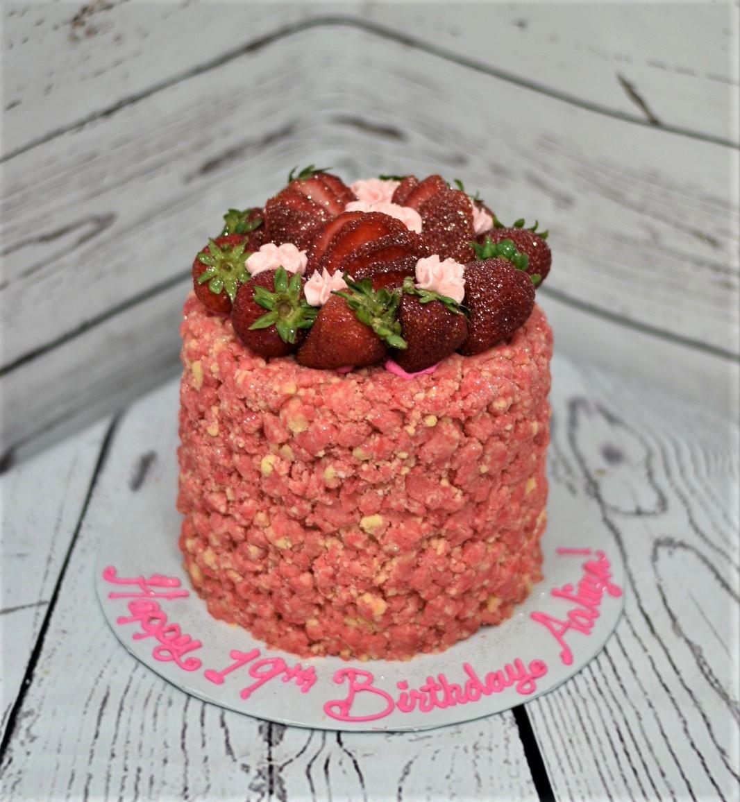 Shortcake Crumble Birthday Cake