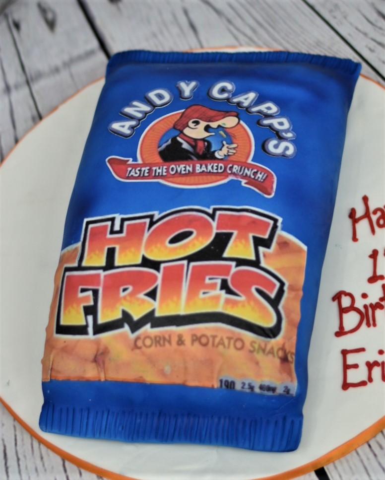 Andy Capp's Hot Fries Birthday Cake