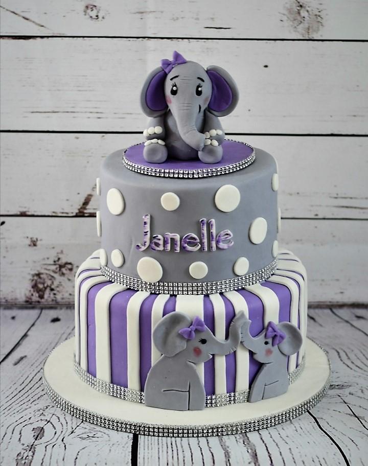 Elephant Baby Sower Cake