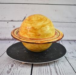 Saturn Birthday Cake