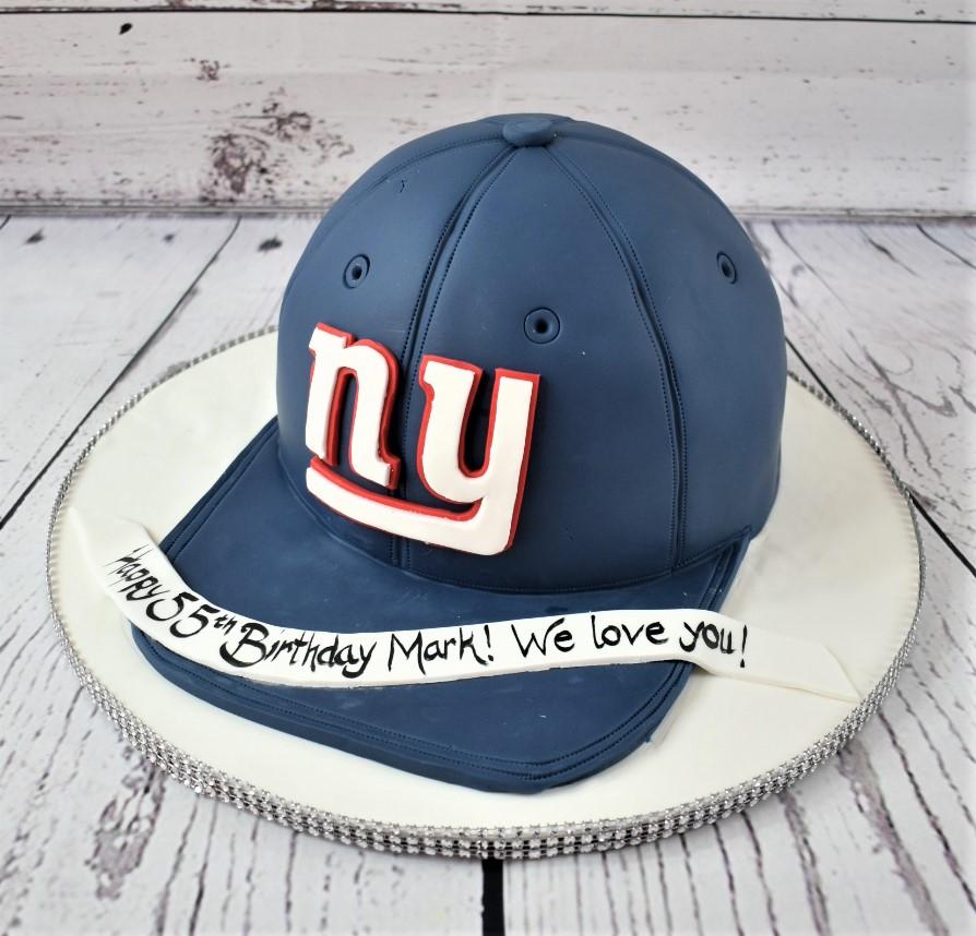 NY Giants Cap Birthday Cake