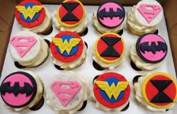 Female Super Hero Birthday Cupcakes