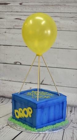 Fortnite Drop Box Birthday Cake
