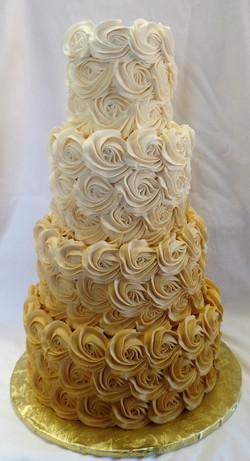 Gold to White Wedding Cake
