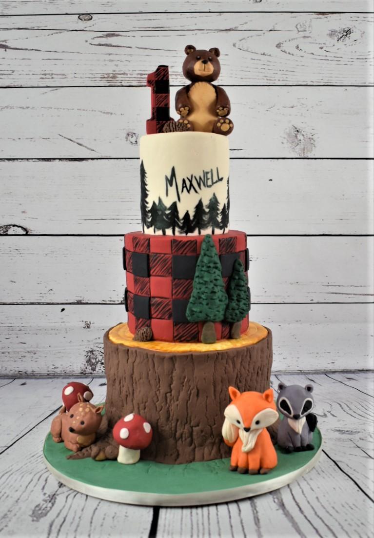 Woodland Lumberjack Birthday Cake